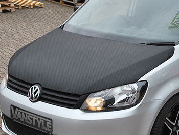 VW Caddy 2010-15 Full Length Bonnet Bra - Carbon Fibre Effect