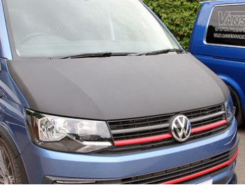 VW T6 2015> Full Length Bonnet Bra - Carbon Fibre Effect