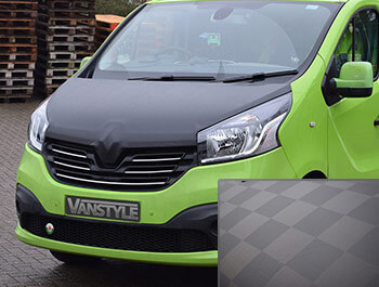 Renault Trafic 2014> Full Length Chequerboard Effect Bonnet Bra