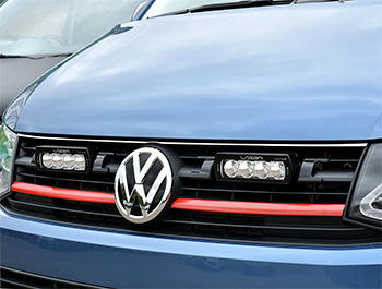 VW T6 Stainless Steel Polished Upper Bonnet Line Trim