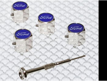 Anti-Theft Valve Caps - Set of 4 - Ford