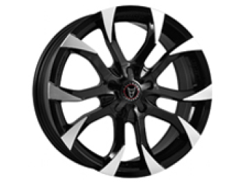 Wolfrace Assassin Black & Polished 16x7 5x114.3 Vivaro & Trafic