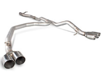 VW T5 T6 Scorpion Non Resonated DPF Back Exhaust Quad - DAYTONA
