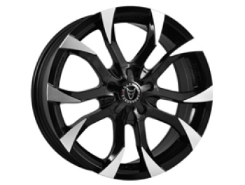 "Wolfrace Assassin Black & Polished 8x18"" Wheels & Tyres"