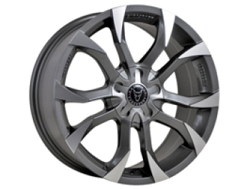 "Wolfrace Assassin Graphite 8x18"" Wheel Package VTP"