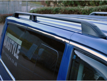 VW T5 & T6 Black Aluminium Roof Bars 03-15 + 2015>