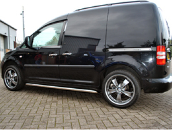 Vanstyle Sport 50mm Stainless Steel Sidebars VW Caddy SWB 04>