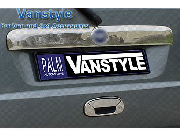 Stainless Steel Rear Grab Handle Cover Fiat Doblo, 2000-ON