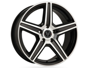 "Wolfrace Scorpio 18"" Black Polished VW T5 T6 Wheel & Tyre"