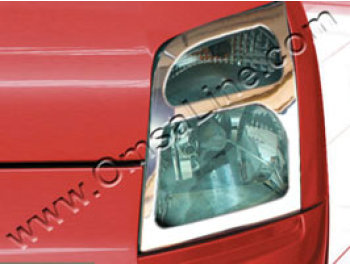 Stainless Steel Headlamp Covers, Ford Connect, 03-10