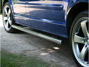 Safety SIDE BARS Polished Chrome End Caps - Ducato Boxer Relay