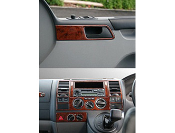 Dash Kit 14pc VW T5 for Standard Dash with 3 dial controls