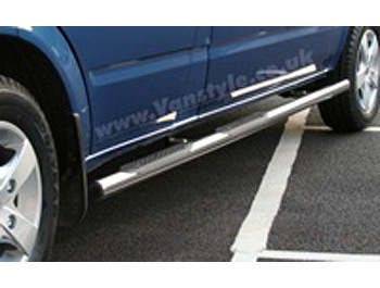 Safety SIDESTEPS Polished Chrome End Caps - MB Sprinter 1995-06