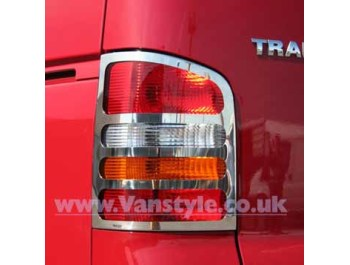 Stainless Steel Rear Light Covers VW T5 Transporter & Caravelle