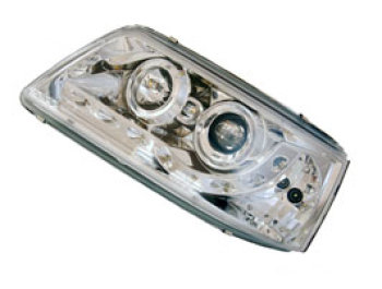 Headlamp Set, Chrome With Audi Style LED, VW T5, 2003>09