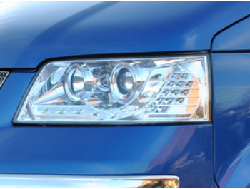 Headlamp Set, Chrome With Audi Style LED, VW T5 2003>09
