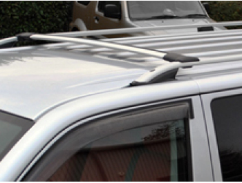 VW T5 & T6 LWB Silver Roof Bars & Cross Bar Set