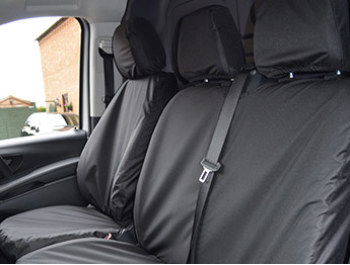 Vito W447 - Tailored Seat Covers - Black - Non Armrest Models