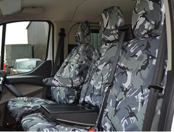 Custom 2012 - Tailored Seat Covers - Urban Camo - Armrest Models