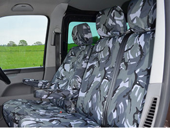 VW T5/T6 Tailored Urban Camo Seat Covers - Drivers Plus Twin 1+2