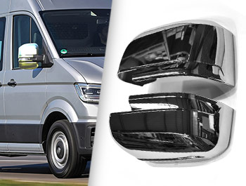 Polished Chrome ABS 4 Piece Wing Mirror Covers - Crafter/TGE 17>