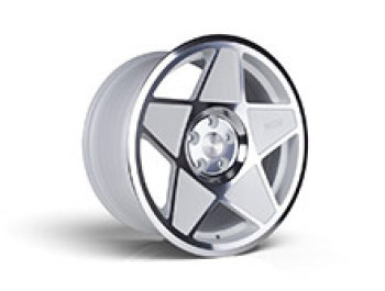 "3SDM 0.05 - 18"" White Cut Alloy Wheel - Wheel & Tyre Package"