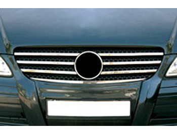 Stainless Steel Radiator Grille Kit - Mercedes Vito 03-10