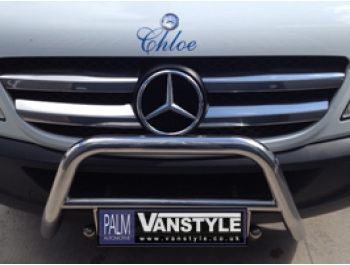 Stainless Steel Front Grille 4 Piece Set Mercedes Vito 2011>