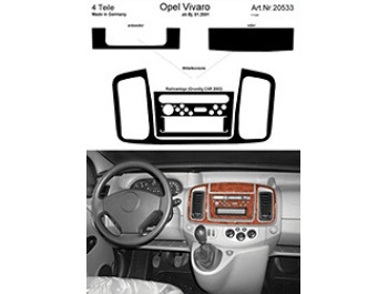 Dash Kit Audio Console for Grundig CAR 2002 Vivaro Only
