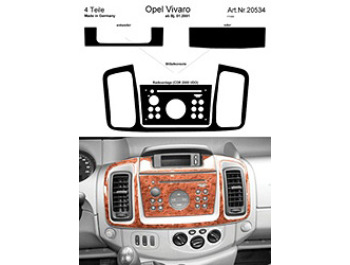 Dash Kit Audio Console for CDR 2005 VDO Vivaro Only