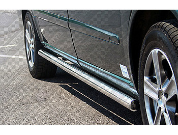 Safety Side Bars Polished SWB Vito/V Class 1996-03 Chrome End Ca