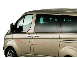 Ford Transit Custom Stainless Steel Door Handle Covers 2012>