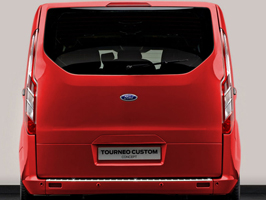 Ford Transit Custom Stainless Steel Rear Bumper Protector 2013>