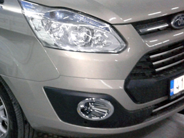Ford Transit Custom Chrome ABS Fog Lamp Rims 2012>