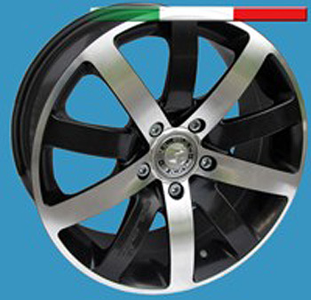 5+5 Wheel 16x7 BLACK DIAMOND Set of 4 - Vivaro Trafic Primastar