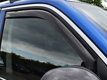 Side Window Deflectors Black (Front) VW T6 15>