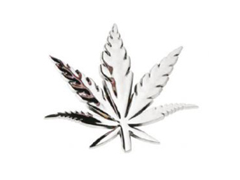 Emblem Marijuana Chrome