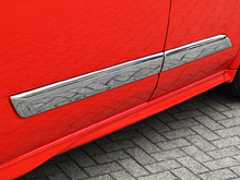 Ford Transit Custom Stainless Steel Side Streamer 2012>