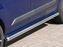 Side Bars Vanstyle 76mm Stainlees Steel Ford Transit Custom 12>