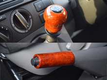 VW T5 03-15 Wood Effect Gear Stick Knob + Hand Brake Cover Kit