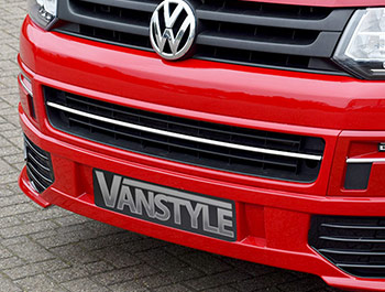 Stainless Steel Lower Front Radiator Grille Trim, T5 & Caravelle
