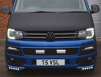 VW T5.1 2010-15 - Full Bonnet Bra - Plain Black