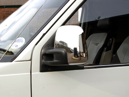 Stainles Steel Mirror Covers VW T4 Transporter and Caravelle