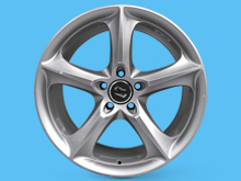 "SR1000 Wheel 17x7.5"" Brite Metal Set of 4 - VW Transporter T5 T6"