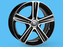 SR1100 Wheel 17x7.5 BLACK DIAMOND Set of 4 - Vivaro Trafic Prima
