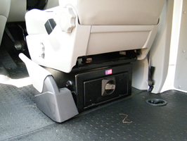 VW T5 Swivel Base Seat Box With Integrated Safe