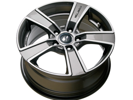 SR1900 18x8 Gunmetal Diamond Set of 4 Wheels 5x120 VW T5