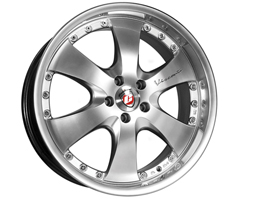 "Calibre Voyage Silver with Polished Rim 8.5x20"" 5x120 VW T5"
