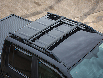 VW Amarok 2010> Black Aluminium Roof Rails & Cross Bars