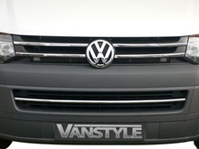 Stainless Steel Sportline Look 5Pcs Grille Trim VW T5 10-15
